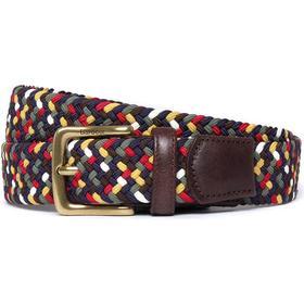 Barbour Dark Tartan Woven Stretch Belt