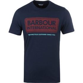 Barbour International Navy Large Logo T-Shirt