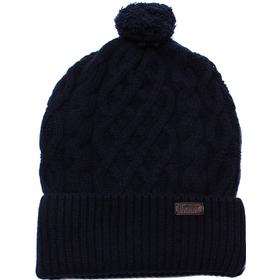 Barbour Navy Cable Knit Beanie Hat