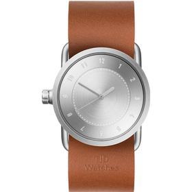 TID Watches-TID No.1 Stål Armbandsur 33mm, Tan Läderarmband