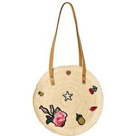 Pepe Jeans Embroidered Straw Round Bag Håndtasker