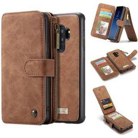 Caseme 2-i-1 Multifunktionel Samsung Galaxy S9+ Pung Taske - Brun