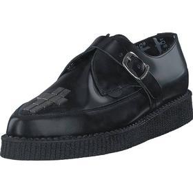 Underground England UB-C015-BLK, Sko, Flade sko, Lærredsko, Sort, Herre, 40
