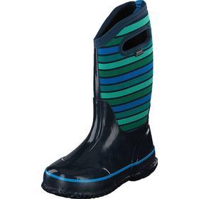 Bogs Classic Stripes Kids Dark Blue Multi, Sko, Boots & Støvler, Boots med varmt for, Grå, Blå, Unisex, 24