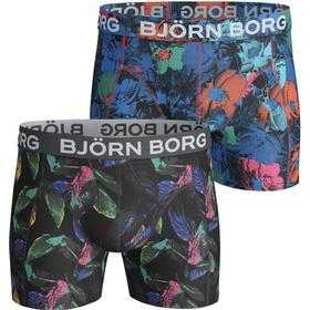 Björn Borg Vibrant Leaves & Flower Shades Cotton Stretch Shorts 2-pack Black/Blue (1811-1040_90651)