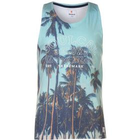 SoulCal Deluxe Palm Tree Vest Blue (58203418)