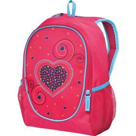 Herlitz Rookie Pink Hearts Pige School backpack Blå, Lyserød, Rygsæk