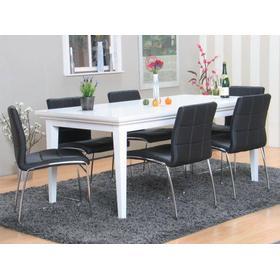 Spisebord stole sort læder Møbler - Sammenlign priser hos PriceRunner