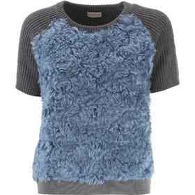 Moncler Sweater for Women Jumper On Sale, Avio Blue, Mohair, 2017, 10 8