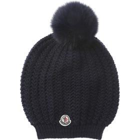 Moncler Hat for Women On Sale, Dark Ocean Blue, Wool, 2017