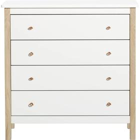 Byrå wood collection läderstropp, oliver furniture