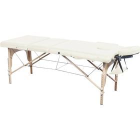 Sammenklappelig Massagebriks med 3 zoner og Reikiendeplader Beige
