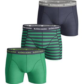 Björn Borg Stripe Essential Shorts 3-pack - Green/Navy