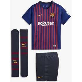 10fb73b4 nike strømper. 2018/19 FC Barcelona Stadium Home-fodboldsæt til små børn -  Blå