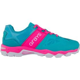 Grays Traction Hockey Shoes - Aqua/Pink