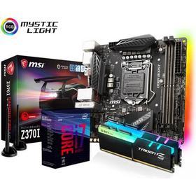 MSI Uppgraderingspaket med Intel Coffee Lake Intel Z370 Core i7 I7-8700K 16GB Mini ITX