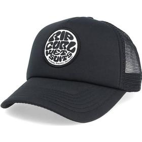 Keps Wetty Curved Black Trucker - Rip Curl