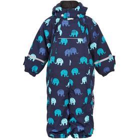 Snowsuit Navy Elephant Blåmönstrad Vinteroverall Barn Celavi 7790-Navy_003