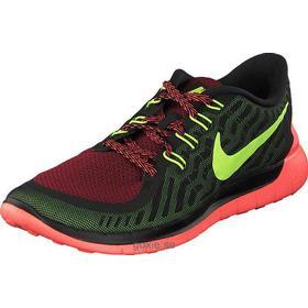 Utsökt stil Nike Free 5.0 Black Volt Gym Red Gröna Herr