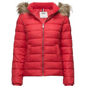 Tommy Hilfiger Tjw Essential Hooded Down Jacket - Red