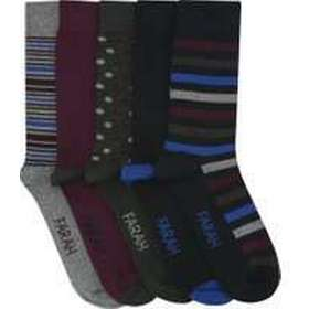 eddb7034636 Farah mens spot and stripe pattern everyday ankle socks - 5 pack - Navy