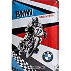 BMW Motorr, Motor Sports, Vintage Motorcycle, Motorbike Racing, 3D Metal/Steel Wall Sign, 20 x 30 cm