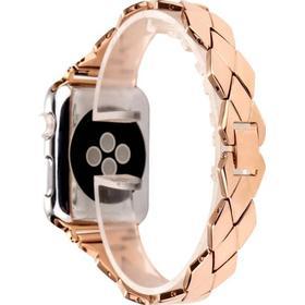 Finestra metal rem til Apple Watch 1/2/3-RosaGuld-42 mm