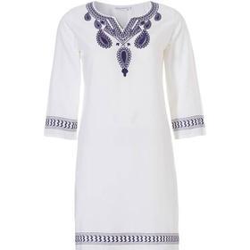 Pastunette Beach Dress- Tunika Hvid m/ Broderi