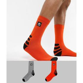 Adidas Skateboarding 2 Pack Socks in Orange DH2567