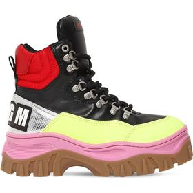40MM FAUX LEATHER HIGH TOP SNEAKERS