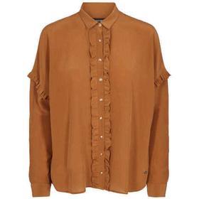 Mos Mosh Raffey Silk Shirt - Black Cognac Ecru