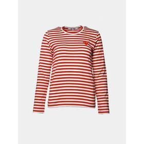 COMME des GARÇONS - T163 Play stripe WOMEN Red