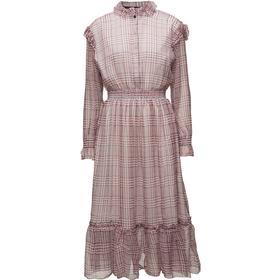 Designers Remix Archie Fuffled Silk Chiffon Dress Check