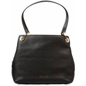 Michael Kors Raven Large Leather Shoulder Bag - Black (30H6GRXE3L)