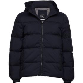 Calvin Klein Hooded Down Jacket - Night Sky
