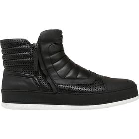 PERFORATED LEATHER & NUBUK SNEAKERS