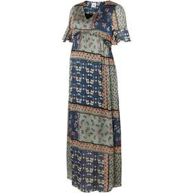 605432e84359 Mama.licious Flower Printed Maxi Maternity Dress Green/Green Bay (20008842)