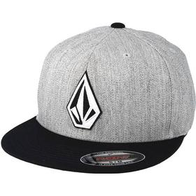 Keps Volcom Stone Stack Heather Grey/Black Fitted - Volcom