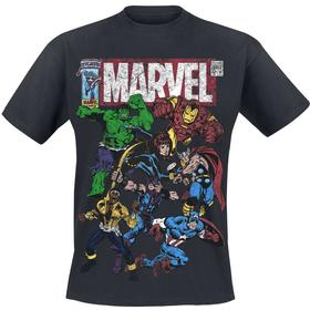 Marvel - Team Up - T-shirts - svart