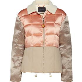 Chic Bomber Jacket In Satin & Canvas Quilted Mix, With A Ted Lyserød