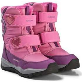 0677484799d0 Geox Pink and Purple Glitter Heart Amphibiox Snow Boots Barnskor 34 (UK 2)