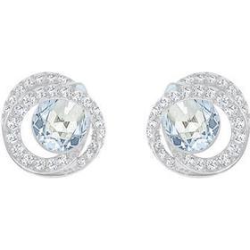Swarovski Generation Rhodium Plated Earrings w. Blue Crystal (5289026)