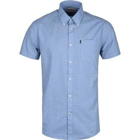 Barbour Blue Chambray Tailored Fit Short Sleeve Taylor Shirt