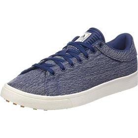 Adidas Adicross Classic Golf Shoe Textile Blue Str. 43 1/3