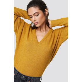 Trendyol Punched Knitted Sweater - Orange,Yellow
