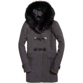 Superdry Brooklyn Duffle Coat - Grey Tweed