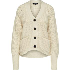 SELECTED Klassisk - Strikket Cardigan Kvinder White