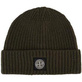 Stone Island Ribbed Wool Hat - Olive