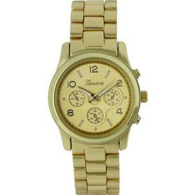 Guldfarvet unisex ur med lænke - Geneva G-2002-GG-SS