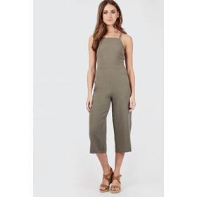 Plain Culotte Jumpsuit